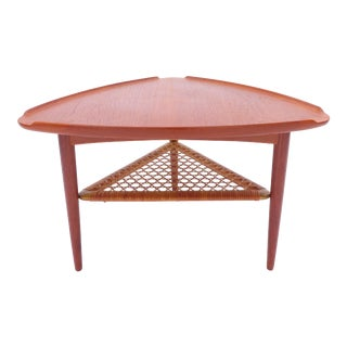 "Poul Jensen ""Guitar Pick"" Occasional Table for Selig Mid-Century Danish Triangle For Sale"