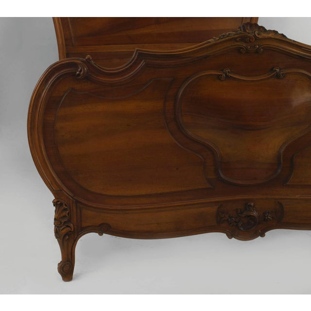 Turn of the Century French Louis XV Style Walnut Bed For Sale - Image 4 of 7