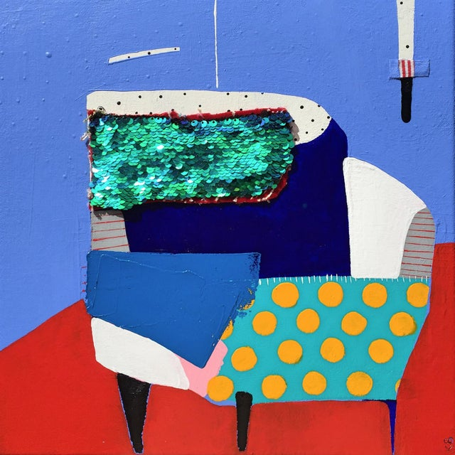 "Kate McCarthy, ""Corner Chair' For Sale In Chicago - Image 6 of 6"