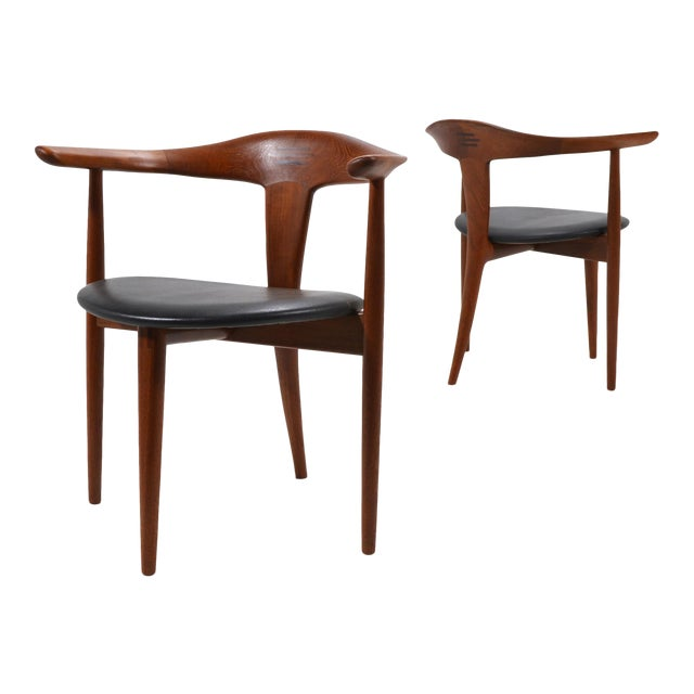 Erik Andersen and Palle Pedersen Pair of Rare Easy Chairs For Sale