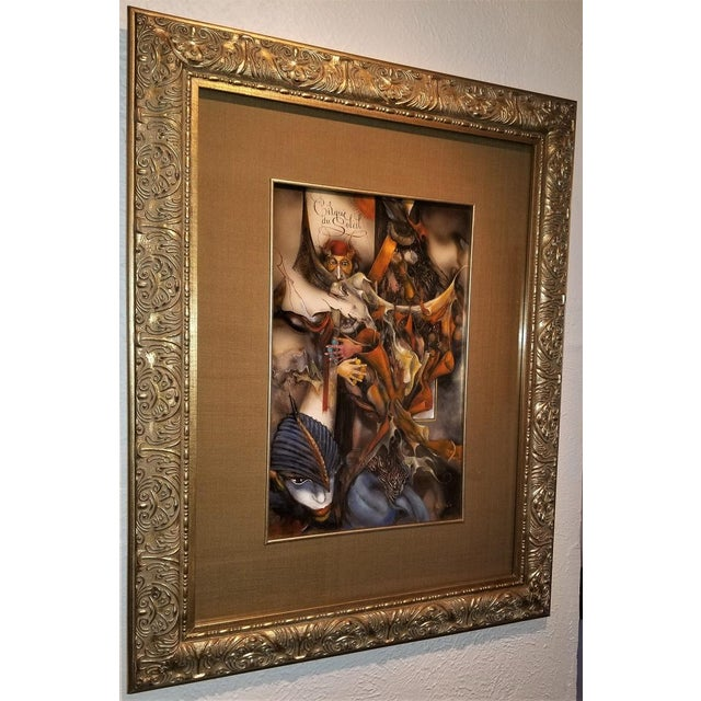 """Vladimir Ryklin """"Cirque De Soleil 1"""" Oil Painting on Canvas For Sale In Dallas - Image 6 of 10"""
