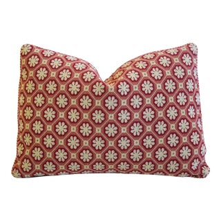 "Italian Scalamandré Colony Xi'an Feather/Down Pillow 20"" X 15"" For Sale"