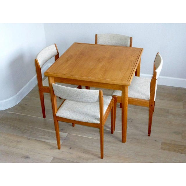 Textile Mid Century Danish Modern Brdr Furbo Denmark Square Teak Game Table For Sale - Image 7 of 12