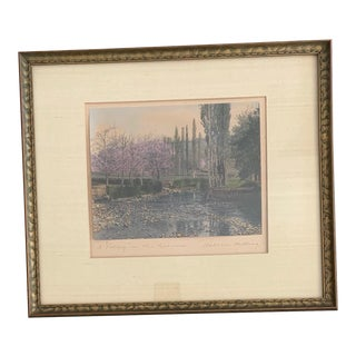 Early 20th Century A Valley in the Pyrenees Painting By Wallace Nutting For Sale
