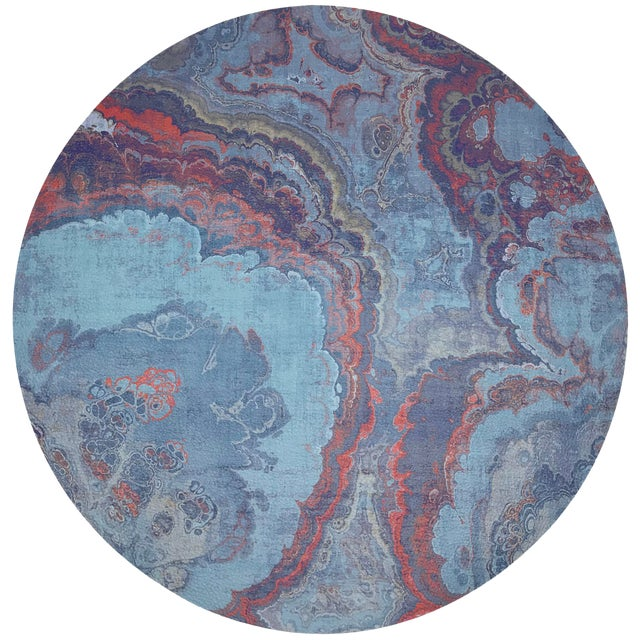 "Nicolette Mayer Agate Lava 16"" Round Pebble Placemats, Set of 4 For Sale"