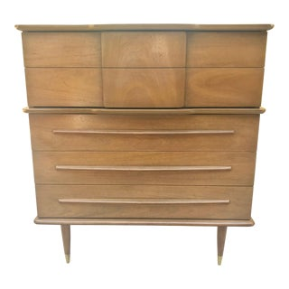 Mid Century Modern Highboy Dresser by United