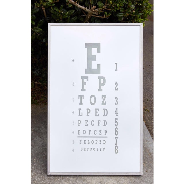 Midcentury Eye Chart Mirror For Sale - Image 13 of 13