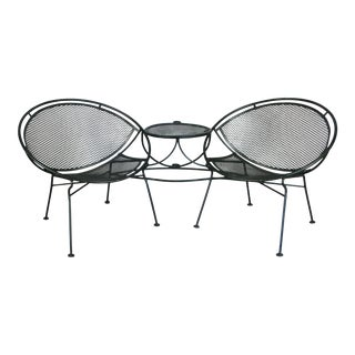 Salterini Radar Tête-à-Tête Settee Lounge, Circa 1950 For Sale