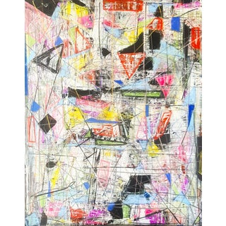 Contemporary Mixed Media Abstract Painting For Sale
