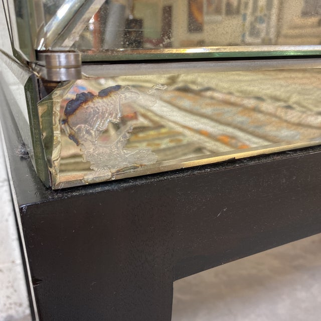Silver John-Richard Vintaged Mirror Bar Cabinet For Sale - Image 8 of 13