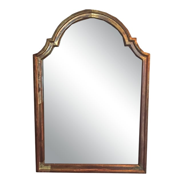 19th Century Gilded Mirror With Arched Top For Sale