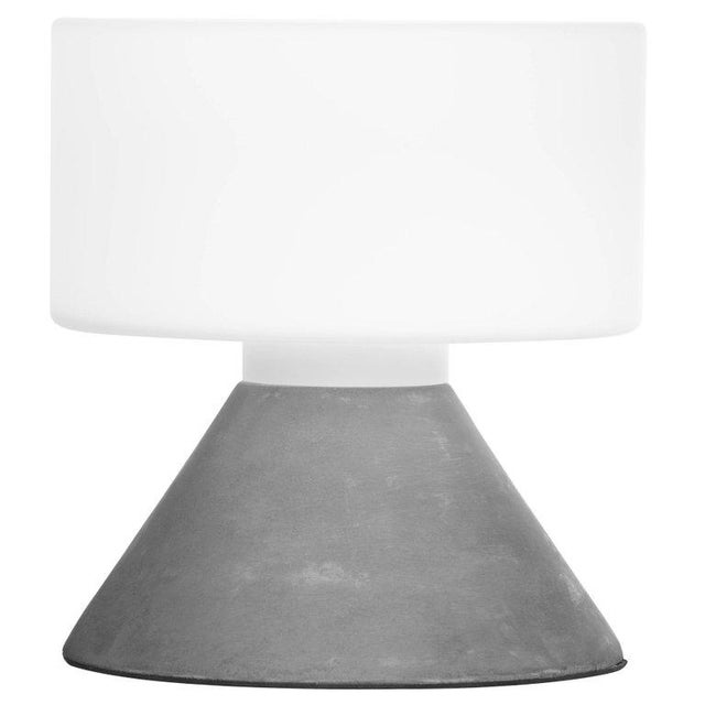 Glass Samuli Naamanka for Innolux Oy 'Concrete' Table Lamp in Dark Gray For Sale - Image 7 of 10