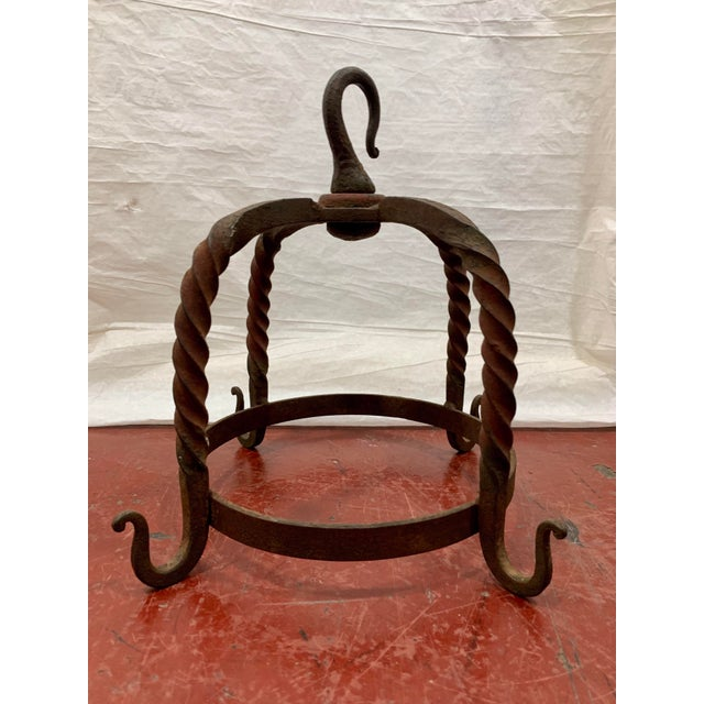 WTH? I bet your asking yourself! This 19th century wrought iron butcher's rack was used to suspend the smaller fresh...