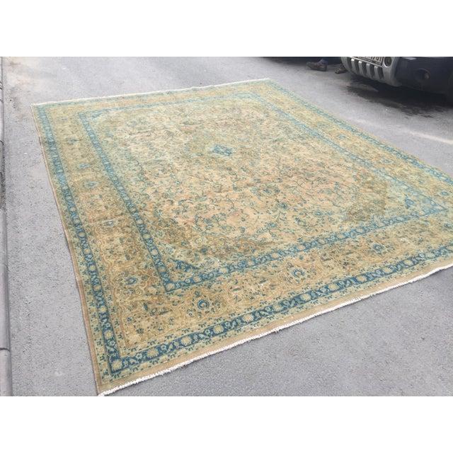 handwoven antique vintage oversize wool handmade Persian rug