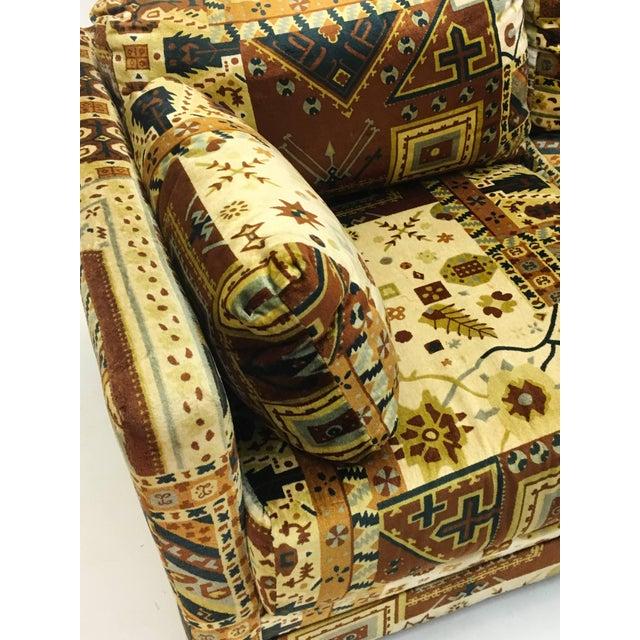 Midcentury Loveseat in Jack Larsen Style Cotton Felt For Sale - Image 6 of 10