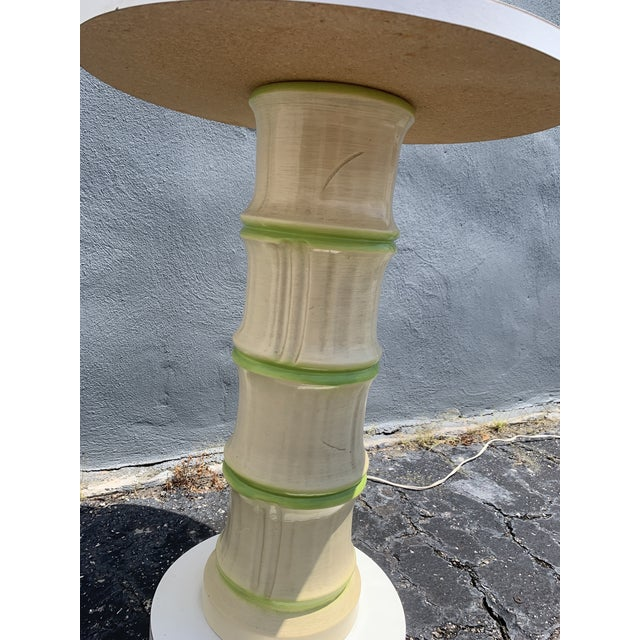 1970's Faux Bamboo Floor Lamp For Sale - Image 4 of 8