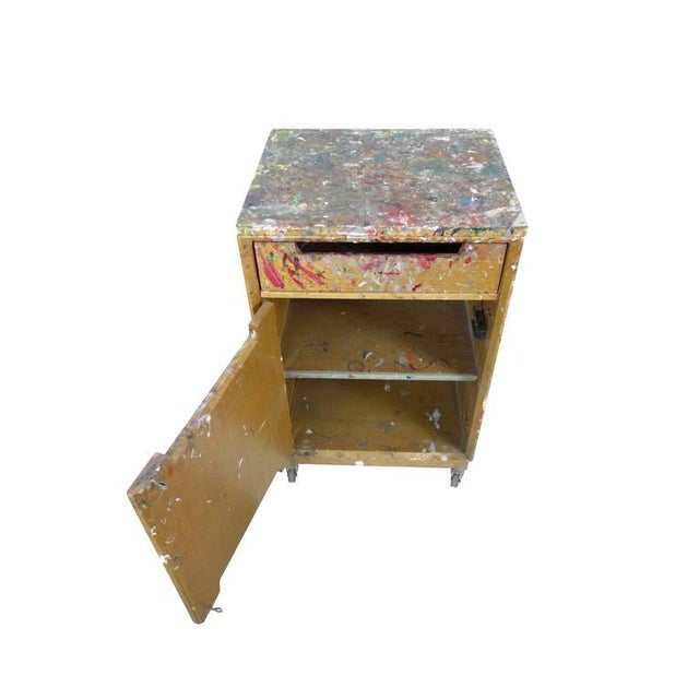 Paint Splattered Cabinet From an Artist Studio For Sale - Image 4 of 10