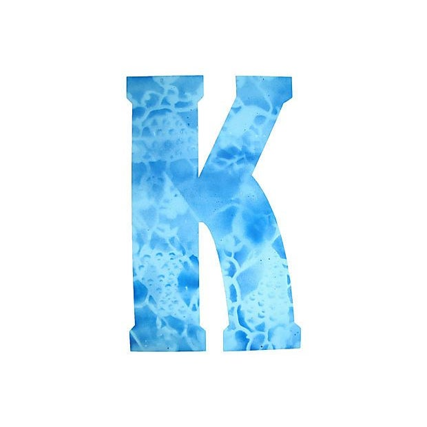 Large Blue Metal Marquee Letter K - Image 2 of 2
