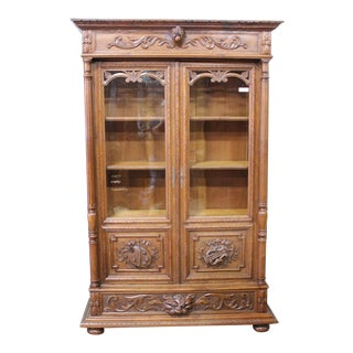 Antique French Louis XIII Bibliotheque For Sale