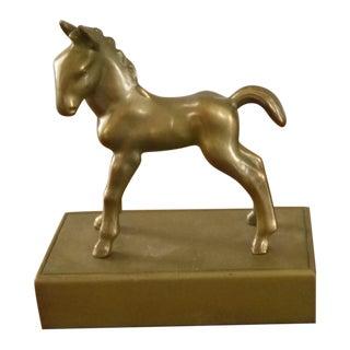 Large Brass Pony