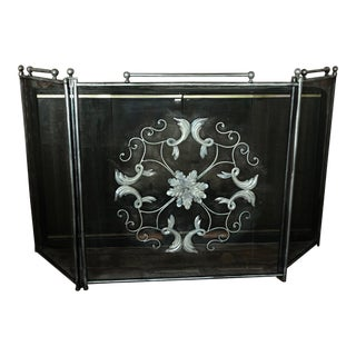 Traditional Decorative Fireplace Screen For Sale