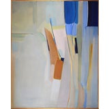 Image of Large Mid Century Modern Abstract Expressionist Oil Painting by John Maries C. 1960s For Sale