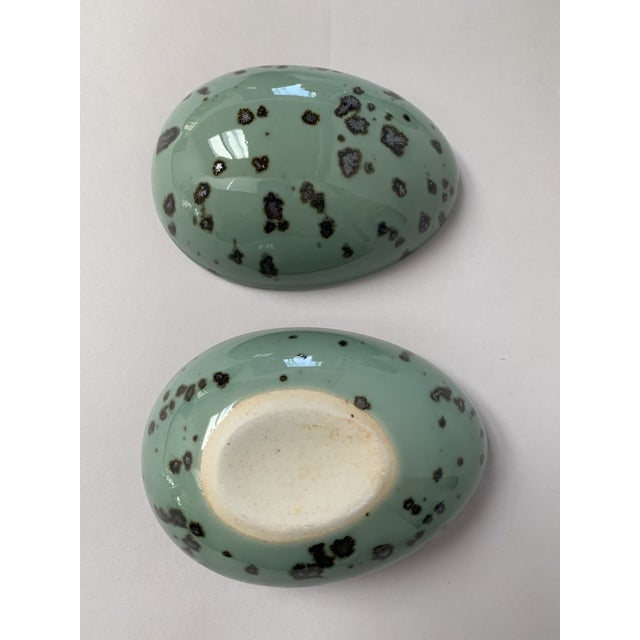 Ceramic 1970s Danish Modern Dansk Large and Medium Jade Green Stoneware Egg Boxes - Set of 2 For Sale - Image 7 of 13