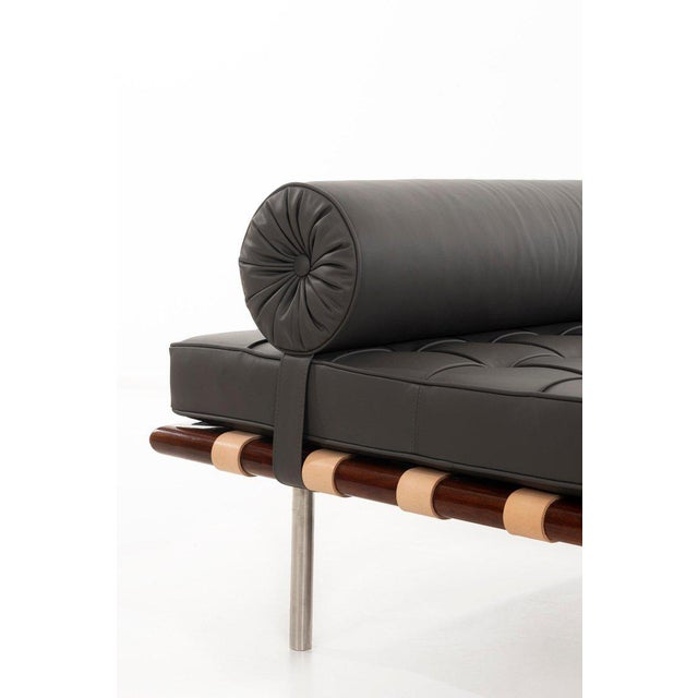 Animal Skin Ludwig Mies Van Der Rohe Rosewood Daybed For Sale - Image 7 of 10