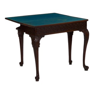 18th Century Antique English Chippendale Period Mahogany Card Games Table Circa 1770 For Sale