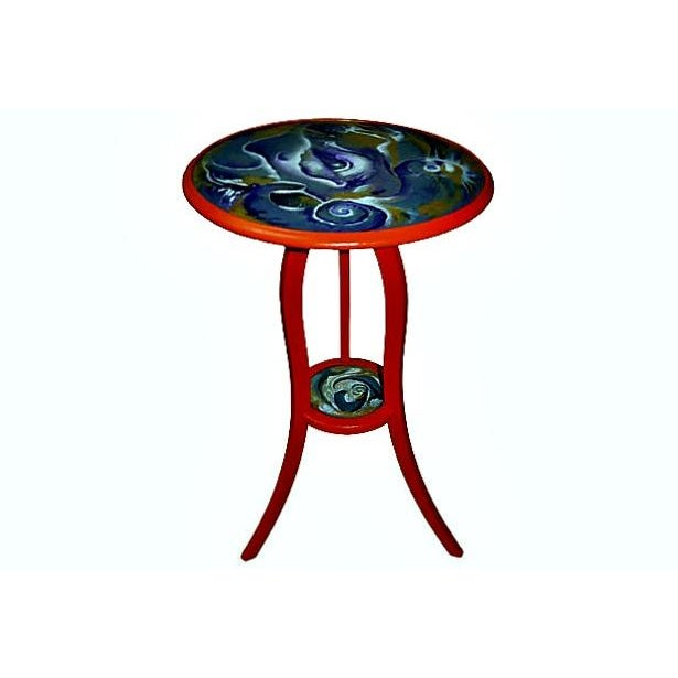 Artfully Updated Old Mahogany Table For Sale In Miami - Image 6 of 8