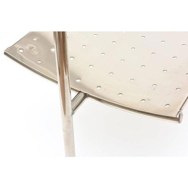 Vintage Mid Century Philippe Starck Doctor Sonderbar Chrome Chair For Sale In Los Angeles - Image 6 of 10