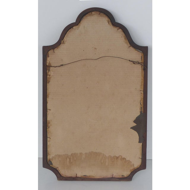 Glass Mahogany Curved Wood Beveled Mirror c1920 For Sale - Image 7 of 7
