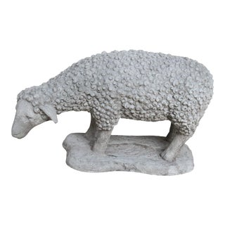 Cast Stone Sheep Garden Ornament For Sale