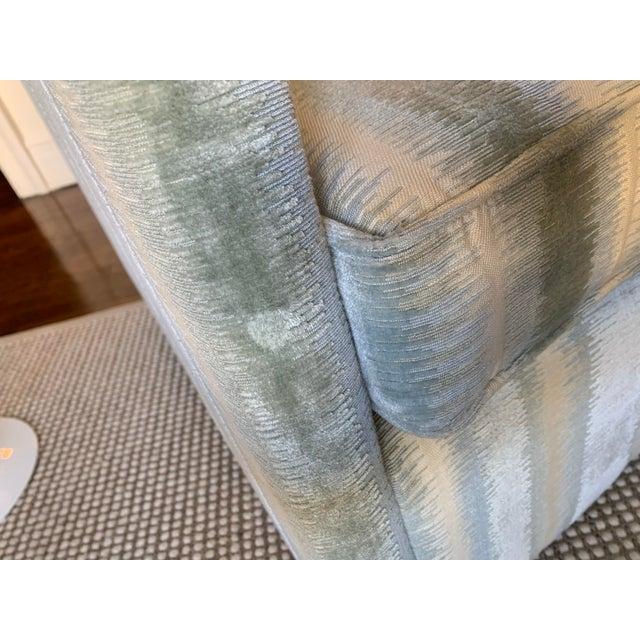 2010s Brunschwig & Fils Bromo Velvet Upholstered Swivel Chair For Sale - Image 5 of 10