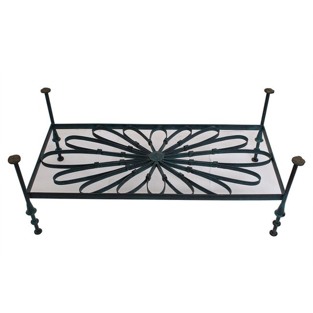 Decorator Wrought Iron & Glass Coffee Table - Image 5 of 7