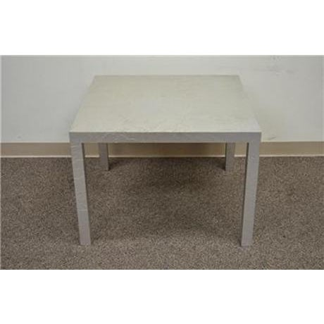 Vintage Mid Century Modern Silver Square Parsons Coffee Side Occasional Table - Image 12 of 12