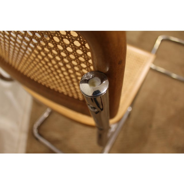 Mid-Century Danish Modern Marcel Breuer Style Caned Dining Chairs - Set of 6 - Image 8 of 10