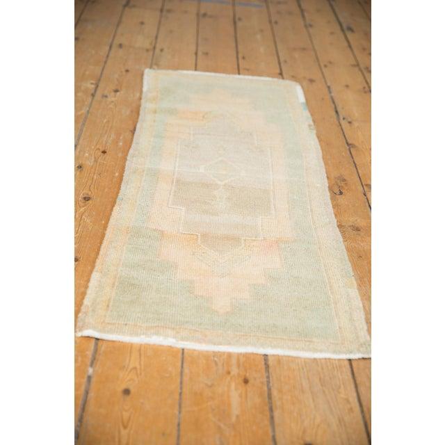 "1980s Vintage Distressed Oushak Rug Mat Runner - 1'7"" X 4' For Sale - Image 5 of 7"
