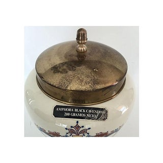 Porcelain Amphora Tobacco Ad Jar Preview