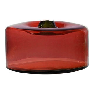 "SkLO Cylinder Glass Vessel 16"" - Brick For Sale"