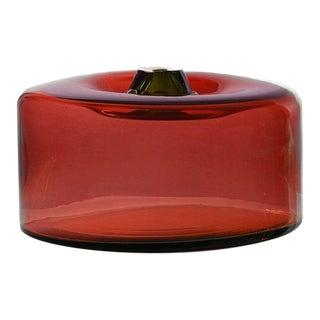 """SkLO Cylinder Glass Vessel 16"""" - Brick For Sale"""
