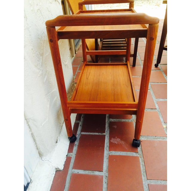 Dyrlund Style Mid-Century Teak Bar Cart - Image 6 of 8