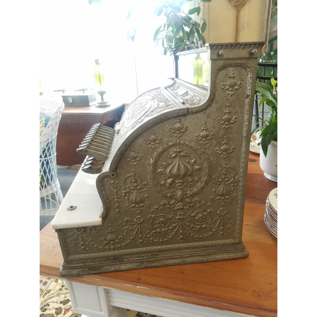 19th Century Neoclassical Iron Cash Register For Sale - Image 4 of 9