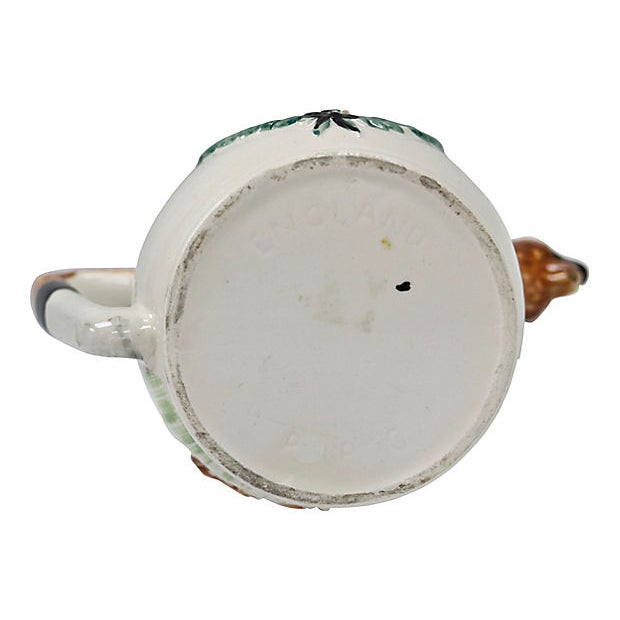 Vintage English Fox Hunting Scene Tea Pot For Sale - Image 4 of 6