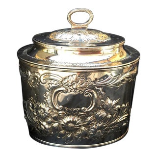 1778 Georgian William Vincent Sterling Silver Tea Caddy
