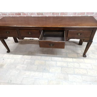 French Country Oak Entry Sofa Table or Foyer Table W 4 Drawers Preview