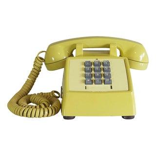 1970s Yellow TouchTone Desk Phone
