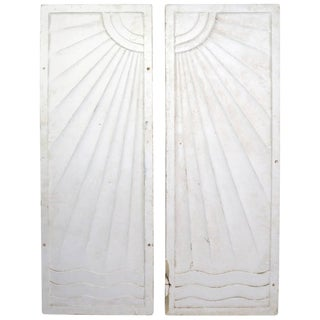 Pair of Art Deco Panels Removed From Art Deco Period Speakeasy Casino For Sale