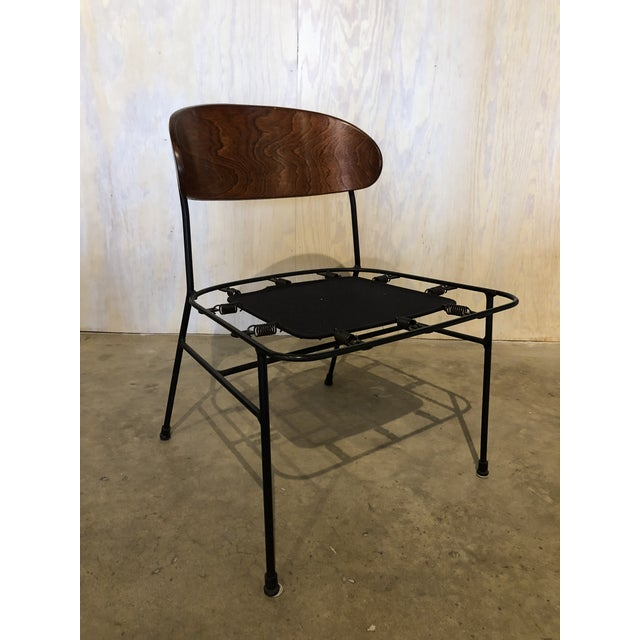 Black Paul Laszlo for Pacific Iron Walnut and Iron Chairs For Sale - Image 8 of 9