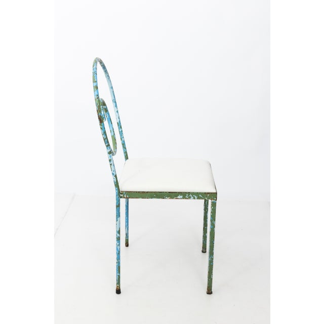 Blue 20th C. Scroll Back Garden Chairs - Set of 4 For Sale - Image 8 of 11